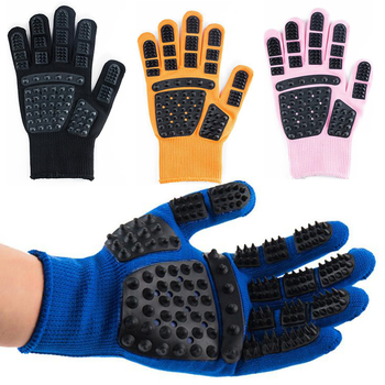 Pet Glove Cat Grooming Glove Cat Hair Deshedding Brush Gloves Dog Comb For Cats Bath Clean Massage Hair Remover Brushes Gentle