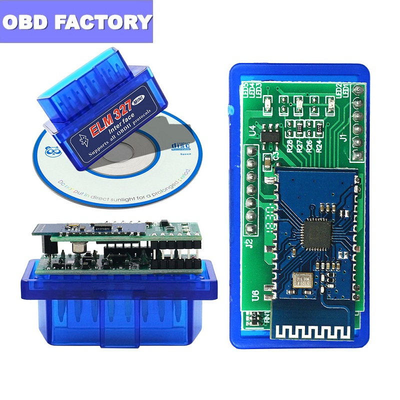 V1.5 pic18f25k80 elm327 obd2 scanner super mini elm327 bluetooth scanner diagonal elm327 bt v1.5 obdii interface obd2 elm 327