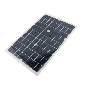 18V 20w solar panel kit Transparent semi-flexible Monocrystalline solar cell DIY module outdoor connector DC 12v charger boguang 18v 50w etfe solar panel monocrystalline cell pcb module mc4 connector 10a controller for 12v barrery rv yacht car light