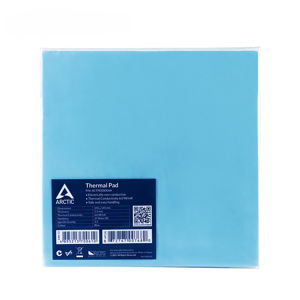 ARCTIC Thermal Pad 6.0 W/mK Conductivity 0.5mm 1.0mm 1.5mm Thermal Mat 145*145MM Thermally Conductive adhesive 2