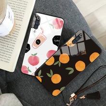 Fruit Pattern Glass Phone Case For Xiaomi MI A2 A3 CC9 MIX 2