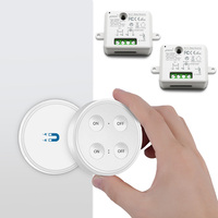 Lighting remote control wireless switch and 2 receivers, control 2 lights by 1 switch, No WiFi, No Hub, easy for installation
