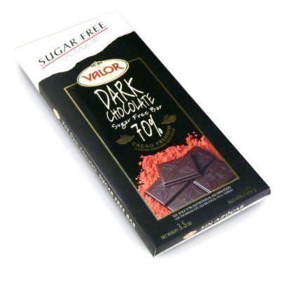 Valor Sugar Free Dark Chocolate, 70% Cacao (3.5 Oz/300 G) By Valor