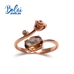 bolai,Zultanite Ring Color changing created diaspore jewelry,rose design style,The best gift for your sweetheart or girlfriend