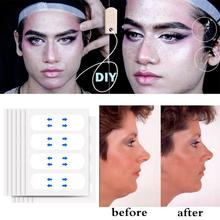 40Pcs/Set Invisible Thin Face Stickers V-Shape Face Face Sagging Lift Fast Up Chin Skin Line Tape Adhesive N9C8