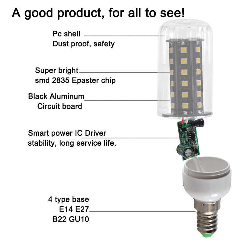 Led لمبة ذرة 8 واط E27 E14 B22 شمعة الأضواء مصباح التيار المتناوب تيار مستمر 12 فولت 24 فولت 36 فولت 48 فولت 60 فولت 110 فولت 220 فولت المنزل قارب الجهد المنخفض ضوء 12 24 فولت فولت