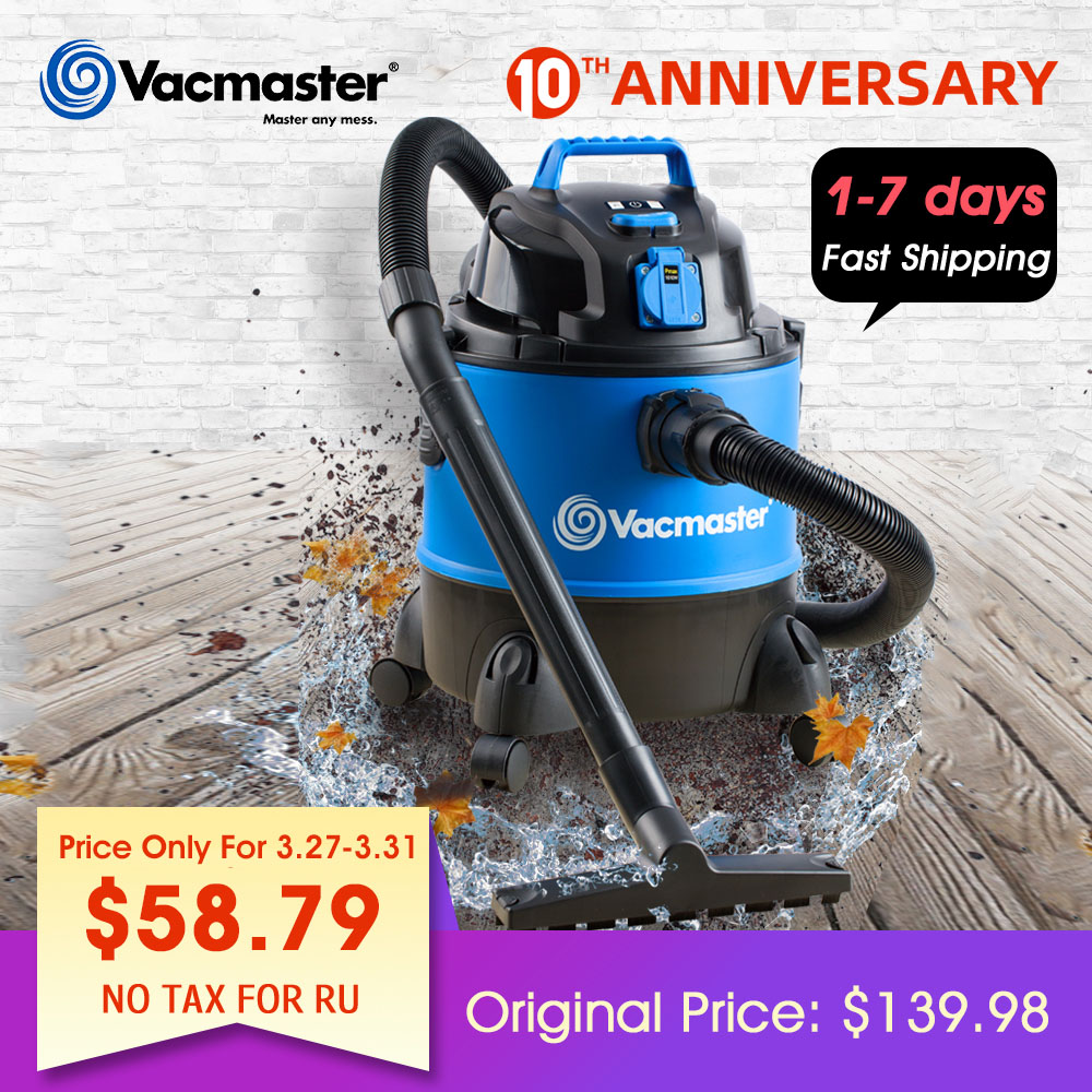 Vacmaster With Power Tool Socket Household Powerful Carpet Vacuum Cleaner wet and dry Multi-purpose Small Machine VQ1220PFC image
