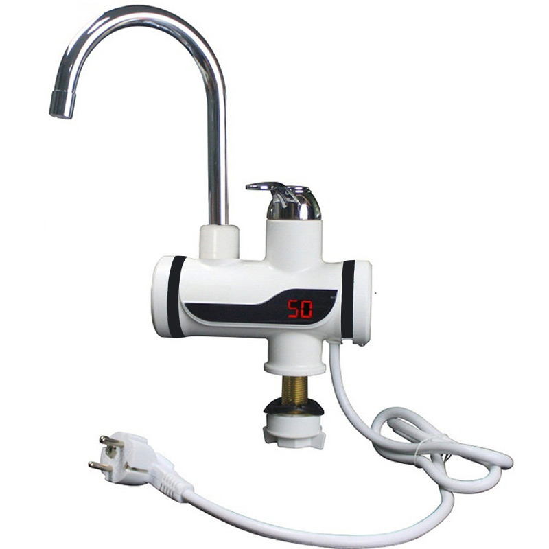 3000W Electric Water Heater Kitchen Instant Heater Immersion Heater Cold Hot Didital Display Heater Tap One Second That Is Out