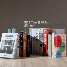 Современная имитация модной книги домашний декор модель для