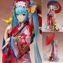 23cm Anime figure Hatsune Miku Kimono PVC sexy girl Japanese Anime Action Figure Toys Collectible Figure model цена и фото