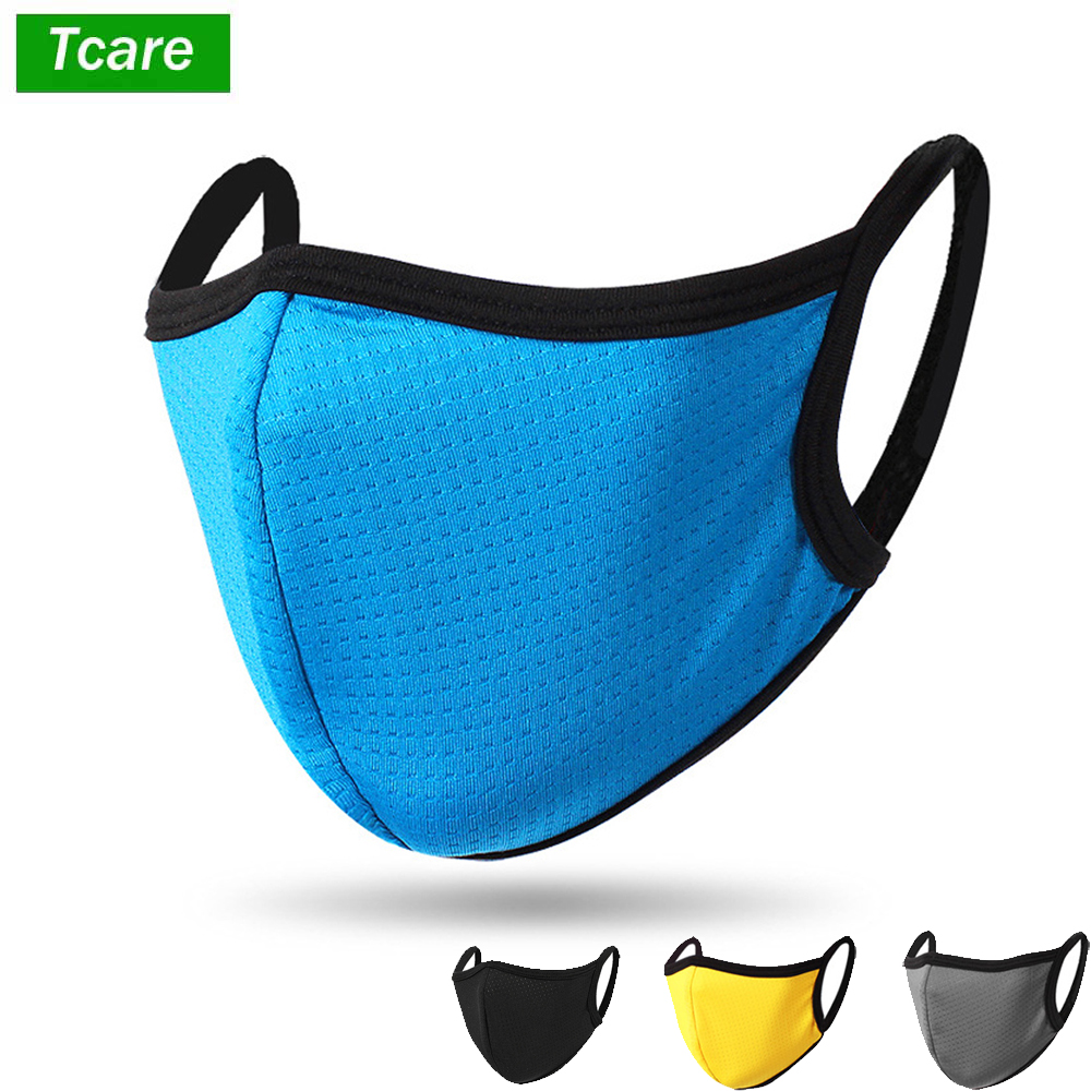 Tcare Quick Dry Unisex Dust Face Shield Mouth Mask Cover Ice Silk Adult Reusable Protective Facial For Cycling Camping Travel