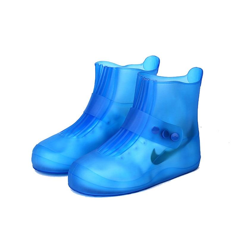New Kids Cute Rain Boots Set Men Women Rainy Day Waterproof Cases Unisex Non-Slip Thick Wear-Resistant Bottom Solid Shoe Covers