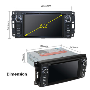 """Image 5 - in Dash Car Radio Multimedia Player Navigation System with 6.2""""LCD Bluetooth WiFi GPS for Jeep Wrangler Dodge Chrysler Android 9"""