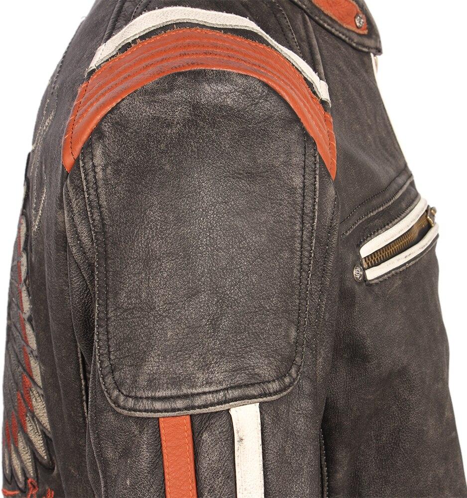 Hee9ee961e14244378f3787c2a9e1ddf5o Vintage Embroidery Skulls Motorcycle Leather Jacket 100% Real Cowhide Moto Jacket Biker Leather Coat Winter Motor Clothing M220
