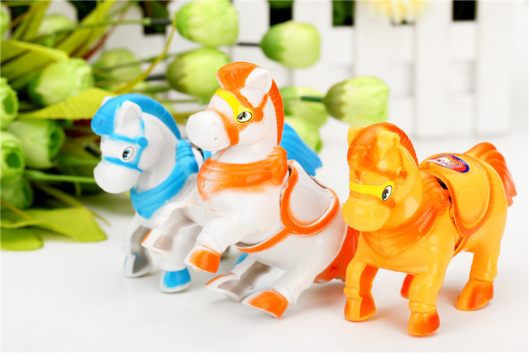 Cartoon Toy Animals Wind Up Horse Spring Horse Toy Children Stall Porches Special Offer CHILDREN'S Toy