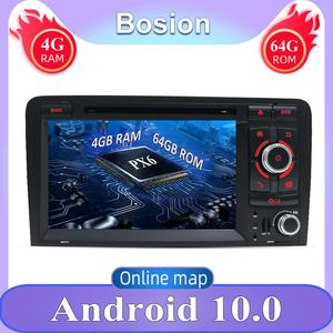 GPS Navigation 4G+64G Android 10 For Audi A3 8P S3 RS3 2003-2011 Double Din Car DVD Player Radio Stereo Audio Camera Map Canbus(China)