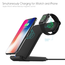 2 in 1 Fast Charging Dock 10W Qi Wireless Charger for Cell Phone  XS XR X 8 Plus iWatch 4 3 S10 S9