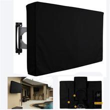 Открытый защитный экран ТВ Пылезащитный Водонепроницаемый Чехол Набор крышка водонепроницаемый Оксфорд черный телевизионный чехол ТВ крышка от 30 до 58 дюймов
