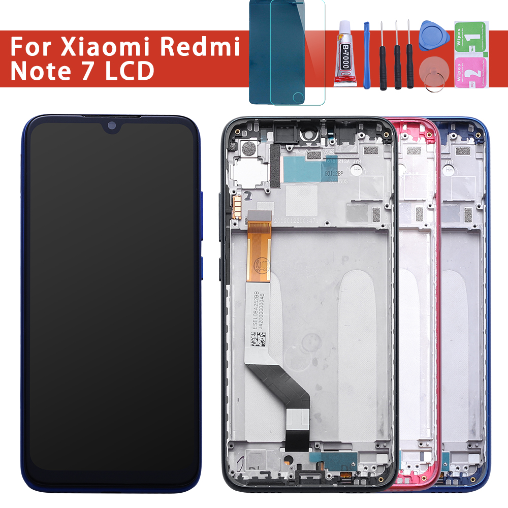 10-Touch AAA Quality LCD For Xiaomi Redmi Note 7 LCD With Frame Display Screen For Redmi Note7 Pro LCD With Frame Display Screen