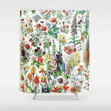 Moderne pastorale Adolphe Millot Algues français Vintage affiche rideau de douche étanche salle de bain rideau ensemble avec 12 crochets