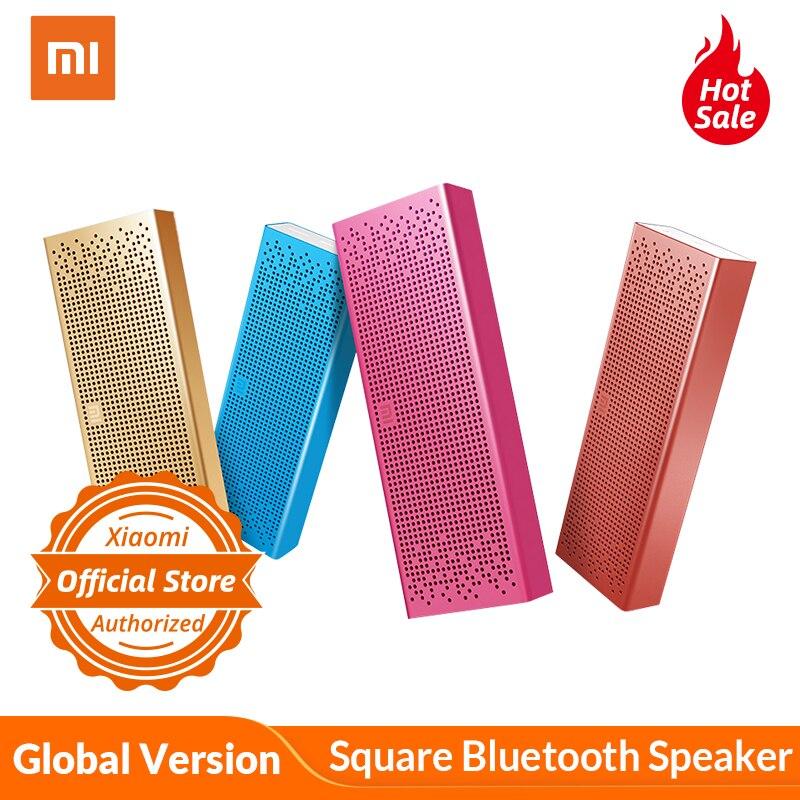 Version mondiale Xiaomi carré Bluetooth haut-parleur sans fil Portable en métal entrée AUX pour MP5/lecteur MP3/téléphone Portable mains libres pour appel