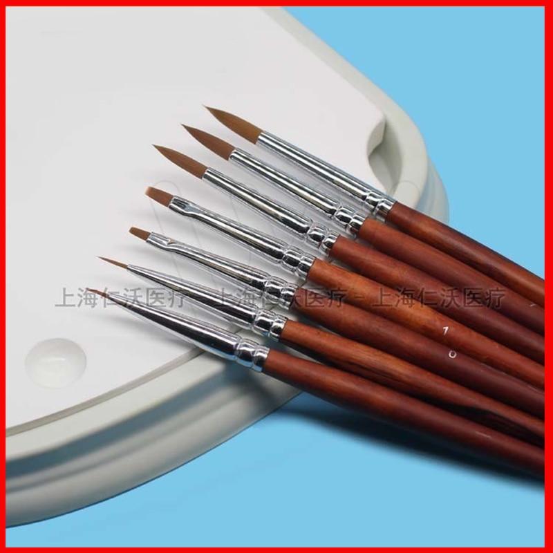 7 pièces/ensemble stylo en porcelaine dentaire stylo émaillé outils de mécanicien dentaire
