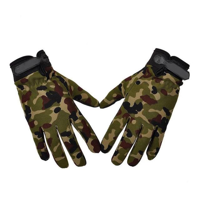 Men's Sport Tactical Gloves Fingerless Army Lightweight Summer Breathable Riding Female Gloves Full Fingers Non-Slip 1