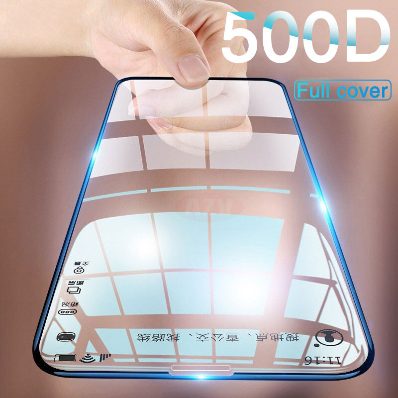 500D Protective Glass For IPhone XR X XS Max Glass Full Cover IPhone 11 Pro Max Xs Screen Protector Tempered Glass On Iphone XR