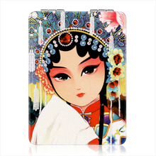 Makeup Mirror Cosmetic Stand for Tabletop Bathroom Bedroom Travel Metics Tools Round Chinese Style