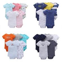 סגנון חדש קיץ 2020 תינוק בנות צבעוני קצר שרוול bodysuits כותנה 5 pcs תינוק בגדים עבור בנות & בני תינוק תלבושות פיג מה
