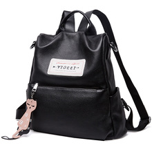 Women Korean Genuine Leather Backpack Real Cowhide Lady Bagpack Casual Travel Bag Knapsack Female Bookbag Mochila Black Luxury