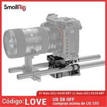 Smallrig dslr camera rig universal 15mm ferroviário sistema de apoio com liberação rápida arca placa alta ajustável 2092