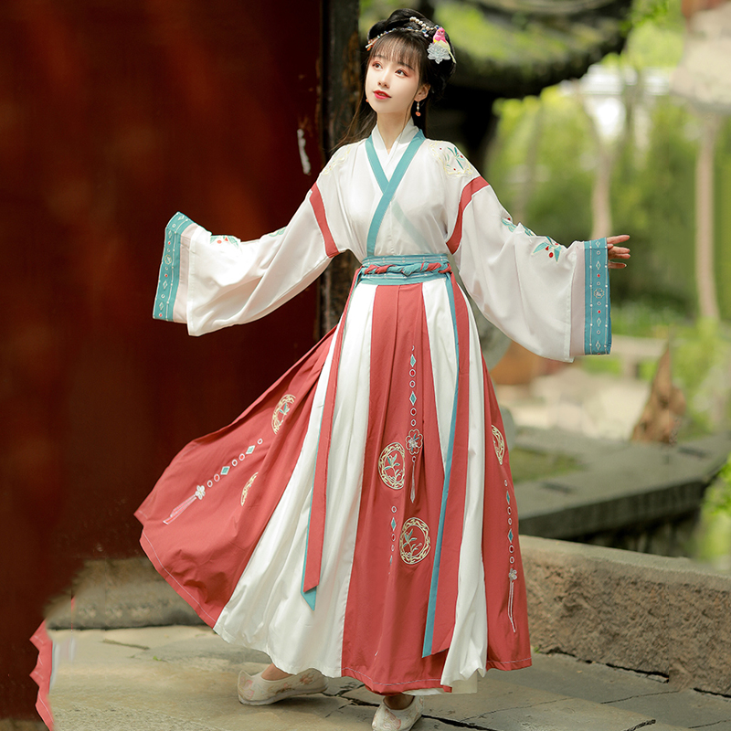 Women Dress Hanfu Oriental Dance Costumes Chinese Traditional Ancient Gothic Skirt Stage Wear Performance Girls Outfits DQS4915