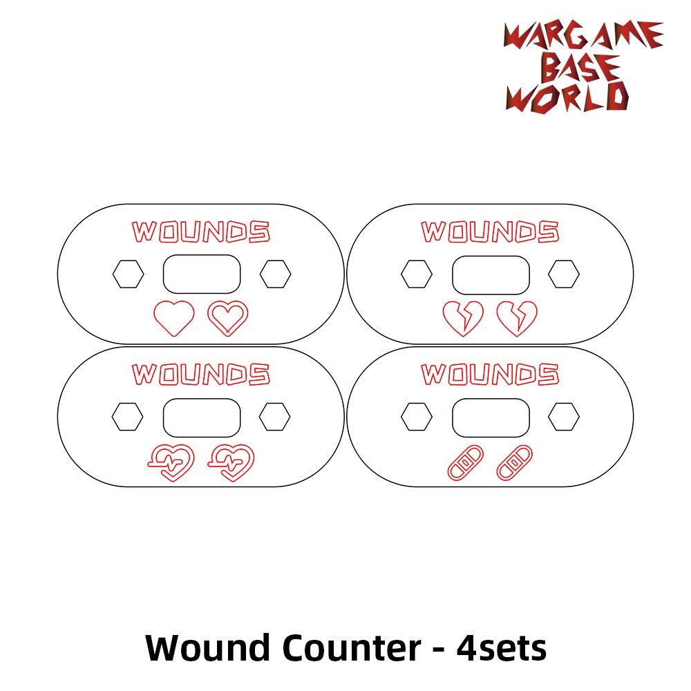 Wargame قاعدة العالم-مكافحة الجرح/المقتفي/الاتصال الهاتفي/علامة 00-99 مكافحة الجرح-أربعة مجموعات