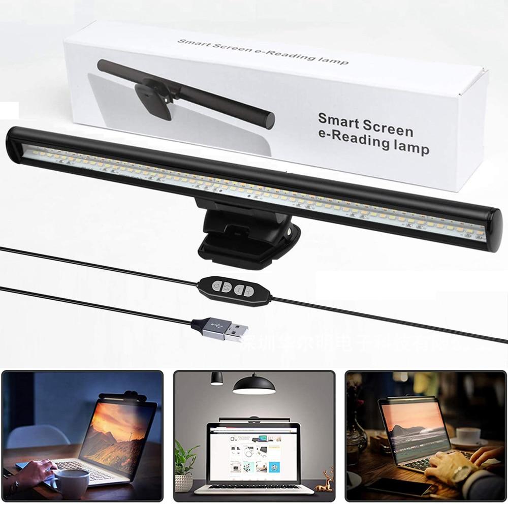 Computador portátil screenbar monitor da lâmpada pc notbook pendurado luz 26cm proteção para os olhos escritório estudo luz de leitura para monitor lcd