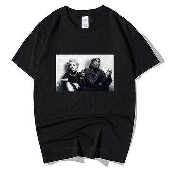 2020 Summer Fashion Design Legends Tupac 2Pac Marilyn Monroe T Shirt Men Casual Hip Hop Short Sleeve Round Neck Cotton T-Shirt 1