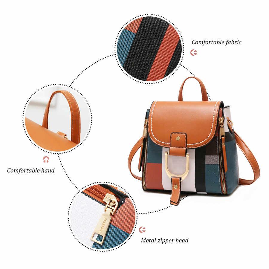 Zaini di marca Delle Donne DELL'UNITÀ di elaborazione Zaini In Pelle Femminile Sacchetto di Scuola per le Ragazze Adolescenti Laides Da Viaggio Indietro Bag Colorful Retro Bagpack