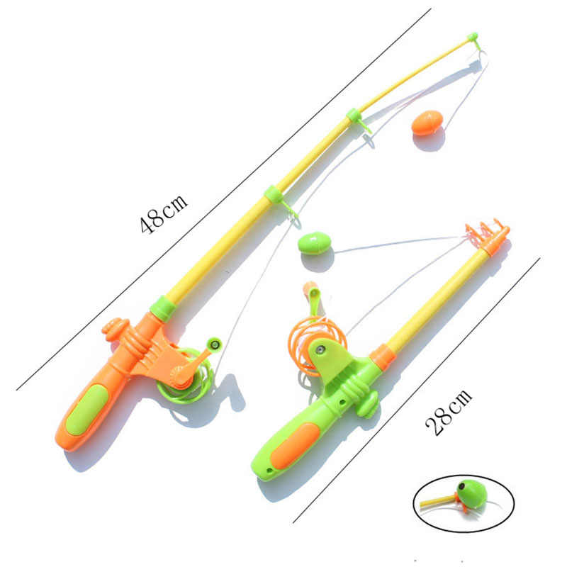 7Pcs/lot Magnetic Fishing Toy Rod Set for Kids Model Play Fishing Games Outdoor Toys (6 Fish+1 Rod)