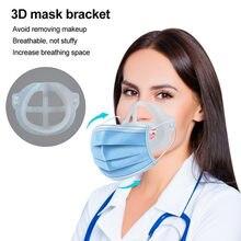 8pc máscara de resfriamento titular com suporte de extensão máscara respirável à prova de poeira batom reutilização lavável titular la máscara