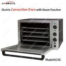 EC01C электрическая конвекционная печь с двойными вентиляторами из нержавеющей стали с функцией пара с верхним нагревом, конвекционная тостер с лотком