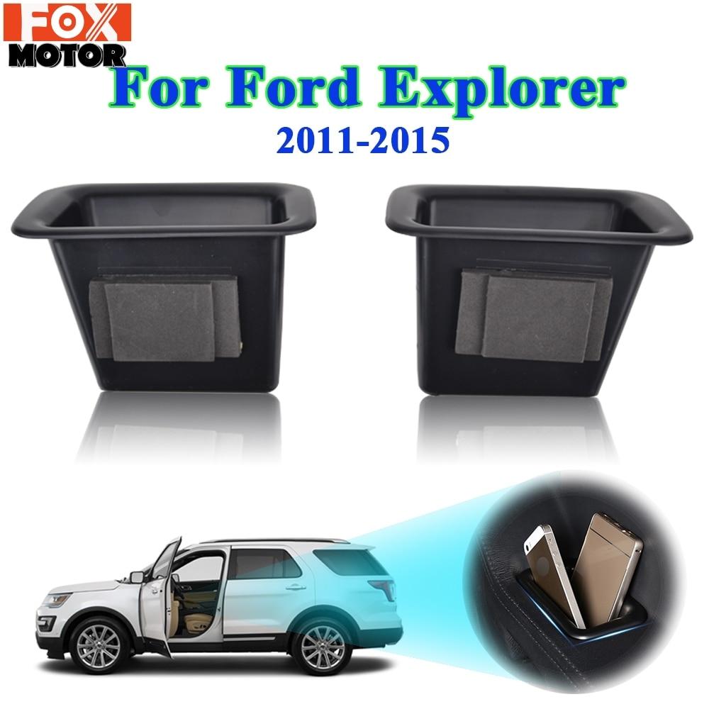 Para Ford Explorer 2011, 2012, 2013, 2014, 2015 Puerta de almacenamiento interno de la caja con reposabrazos contenedor Bin copa del coche organizador
