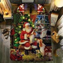 Рождественский Комплект постельного белья с Санта Клаусом пододеяльником