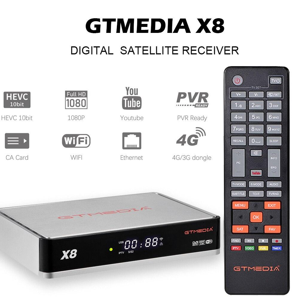 👍2020 NEW GTmedia X8 Satellite TV Receiver, DVB-S2 S2X 1080P H.265 Bulti In WIFI Ccam, For V8 NOVA V8 UHD V8X Upgrade Decoder