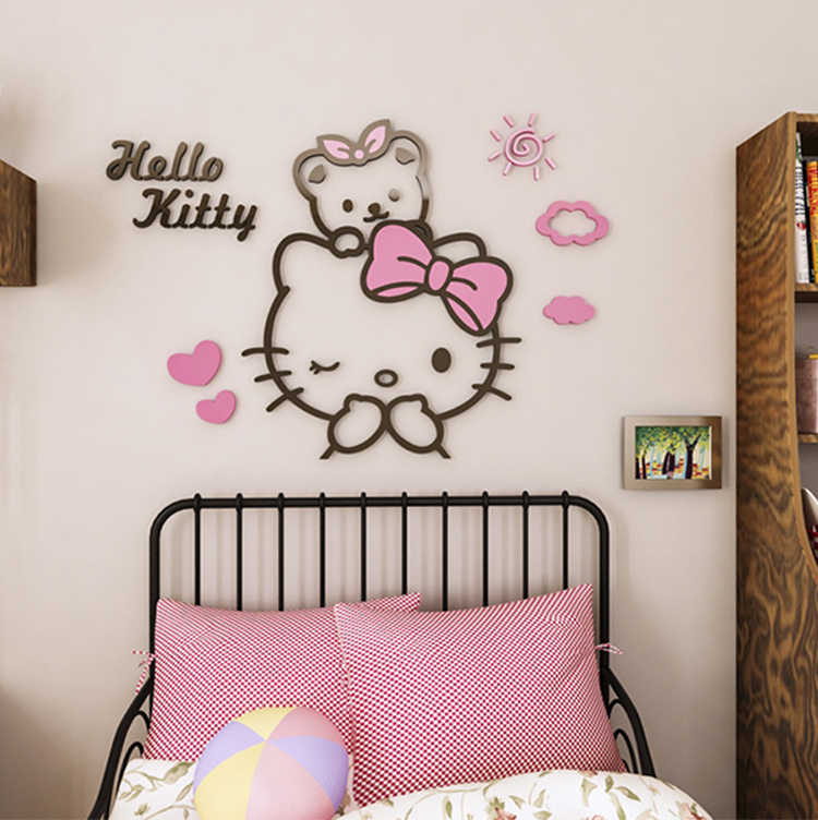 Wall Stickers Cartoon chats couleur Filles Enfants Chambre Garçons Filles Enfants Chambre N150