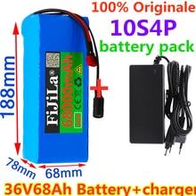 36v bateria batteria 10s4p 68ah 500w batteria ad alta potenza 42v 68000mah ebike biicletta elettrica bms + 42v caricatore