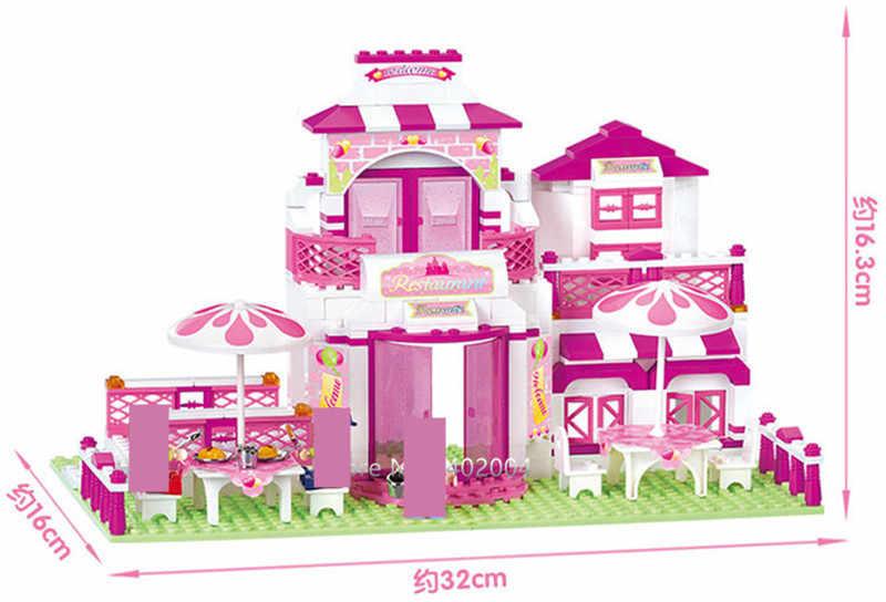 306pcs Amici Romantico Ristorante Castello Blocchi di Costruzione di Modello Imposta LegoINGLs Figures Mattoni FAI DA TE Giocattoli per le Ragazze Regali Di Natale