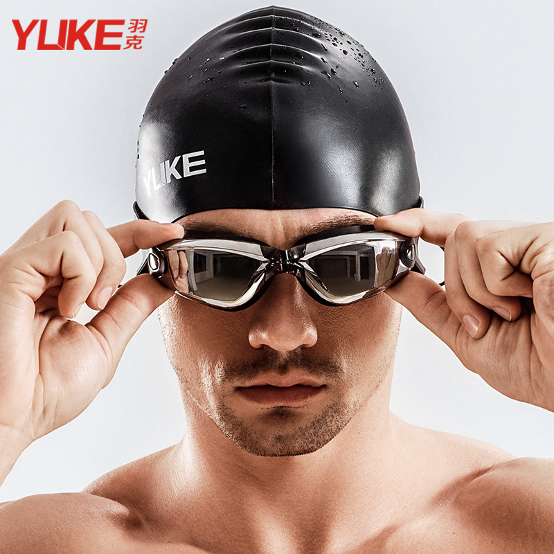 Goggles Earplug Myopia Waterproof Anti-fog Men And Women Big Box Swimming Glasses Prescription Swimming Goggles With High-defini