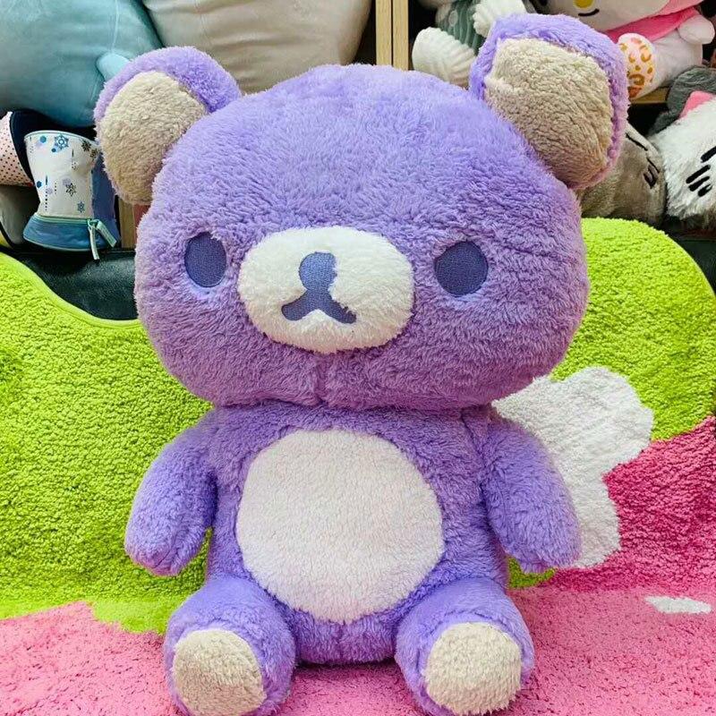 Grande taille Rilakkuma ours violet jouets en peluche taille réelle Relax oreiller poupées doux animaux en peluche saint valentin petite amie Gif
