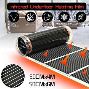 AC 220V инфракрасный обогреватель для пола, электрическая пленка для подогрева пола, теплый коврик, ламинат/Однослойная система отопления пол...