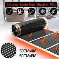 AC 220V Underfloor Infrared Heater Electric Floor Heating Film Floor Warmer Warm Mat Laminate / Solid Flooring Heating System